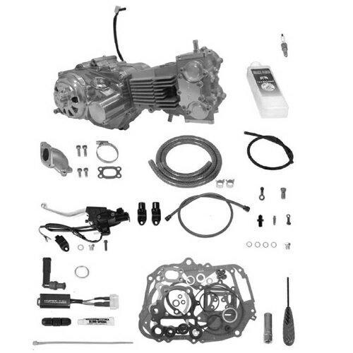 SP武川 タケガワ 01-00-9482 エンジンコンプリートキット DESMOツインカム4V 124cc セカンダリーキックスターター スーパーツーリングTAF5速 カムシャフト25/20 スペシャルクラッチ タイプR DRY/スリッパー/油圧 モンキー/ゴリラ