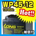 WP45-12 【12V45Ah】UPS・防災・防犯・シニアカー・セニアカー・システム等多目的バッテリー LONGバッテリー バイクパーツセンター