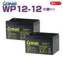 WP12-12  2個セット  12V 12Ah UPS・防災・防犯・システム等多目的バッテリー LONGバッテリー バイクパーツセンター