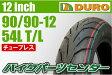 【ダンロップOEM】DUROタイヤ 90/90−12 T/L 1本 □ギア(〜07)□