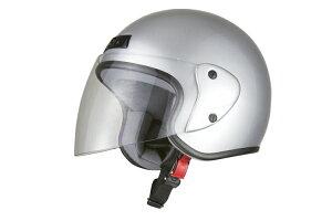 ジェット ヘルメット シルバーメタリック ジェッペル スクーター オープン