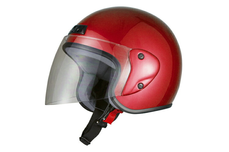 ジェットヘルメット レッド 【フリーサイズ】【SG規格適合 PSCマーク付】【バイク】【オ…...:bike-parts:10001233
