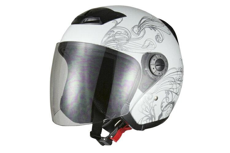 ジェットヘルメット グラフィック ホワイト 【XLサイズ】【SG規格適合 PSCマーク付】…...:bike-parts:10001396