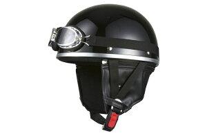 キャップ ブラック ヘルメット ビンテージ ゴーグル おしゃれ チョッパー スクーター