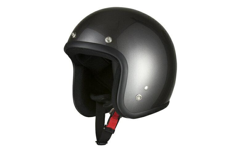 スモールジェット ガンメタ 【フリーサイズ】【SG規格適合 PSCマーク付】【バイク】【オートバイ】【ヘルメット】 バイクパーツセンター