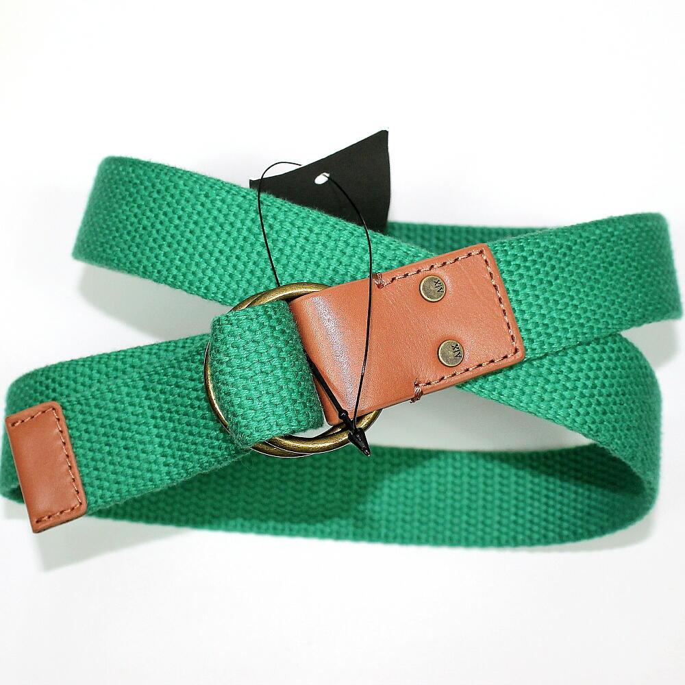 ARMANI EXCHANGE アルマーニ エクスチェンジ  本革 使い ベルト 緑 メンズ 在庫処分!セール