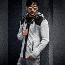 ニットパーカー ニットジャケット セーター メンズ ジップアップ 秋冬 白グレー黒 フード付きセーター ボア付き XXLまで 大きいサイズ ..