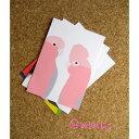 ポストカード モモイロインコAUS直輸入☆Australian Bird Graphic Card 【インコ・鳥・雑貨・グッズ】