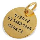 【BIRDIE名前と電話番号が刻印できる迷子札】コインIDプレート