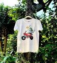ゆとり屋 バイク×インコ Tシャツ 兼用XL / BIRDMORE バードモア 鳥用品 鳥グッズ 雑貨 グッズ 鳥 とり トリ インコ プレゼント
