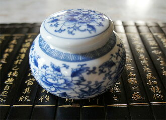 中國茶鍋藍牡丹茶具在中國瓷器東南亞雜貨店