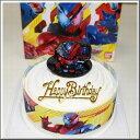 ボンブ(ドーム型)ケーキ/仮面ライダービルド キャラデコ ケーキ5号/バースデーオーナメントとキャンドル小1袋6本付き/(お面とバルーンは付いておりません)/ポストカード無料
