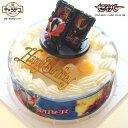 ショッピング仮面ライダーセイバー キャラデコお祝いケーキ 仮面ライダーセイバー ピーチサンド生クリームケーキ バースデーケーキ (バースデーオーナメント+キャンドル6本付き)