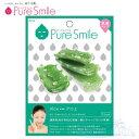 Pure Smile エッセンスマスク 乳液タイプ Aloe/アロエ 【ピュアスマイル 乳液フェイスマスク 1枚】