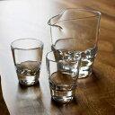 Tomonori EGAWANO 江川野智典 ハンドメイド ガラス酒器 surface (サーフェス) 冷酒器セット (片口 冷酒グラス 2個) おしゃれ ギフト プレゼント