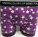 プロビジョン社の商品です。紳士ベネトン・ボクサーブリーフ2枚で¥1000と超安!!サイズ=M寸・L寸スター柄・カラー=紫色・紺色(同色・同サイズ2枚)