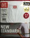 【B.V.D.】BVD2枚組(1組)¥1180と安!フジボウホールデイングスの商品です。天竺編みV首半袖サイズ=M・L・LLの3サイズ綿ー100%