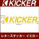 ネコポス可●【KICKER】キッカーレターステッカーイエロー