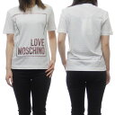 LOVE MOSCHINO ラブモスキーノ レディースクルーネックTシャツ W4H0605 M3876 ホワイト