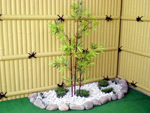 黒竹 100cm (造花 人工観葉植物 バンブー 和風 ガーデニング 造園 庭園 坪庭 エクステリア) 和風の人工観葉植物