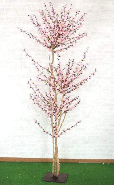 モモツリー 210cm (人工樹木 造花 桃 ピンク) 造花 インテリア 観葉植物 人工樹木 商品き商品