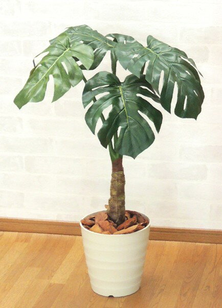 スプリットフィロプラント 高さ80cm (グリーン 造花樹木 人工観葉植物) ナチュラルなフェイクグリーン
