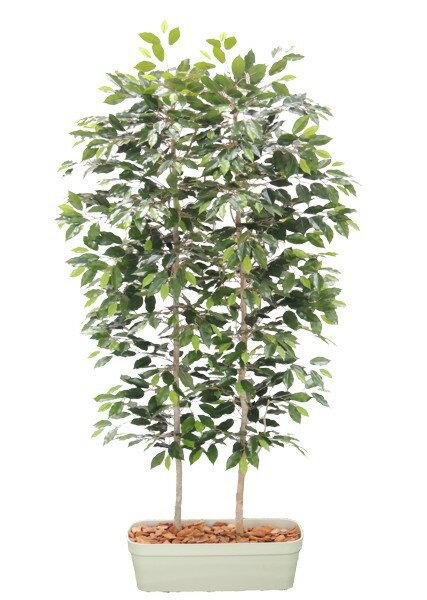 ベンジャミンパーテーション180cm(間仕切 フェイク 造花 インテリア 人工観葉植物 1.8m) ベンジャミンのパーテーション(造花の間仕切)