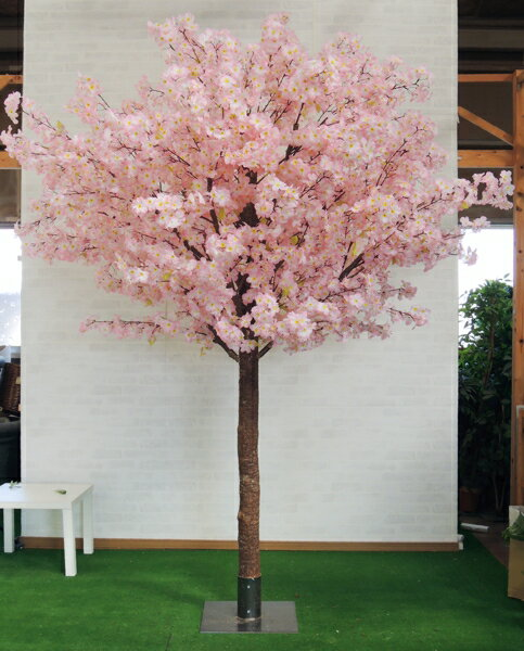 高さ250cm特注桜の木 組み立て式(人工 造花 サクラ インテリア 分割式)