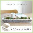 ウッドスリムボード【ガーデニング/長鉢/おしゃれ/多肉植物/寄せ植え/木製ポット】