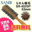 【送料無料】SANBI サンビー ヘアブロー ロールブラシ 53mm らせん植毛 SR-402SP【豚毛】