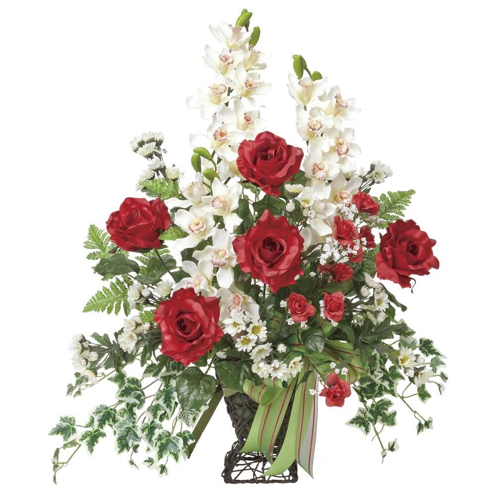造花アート・アレンジメント ローズカップ 誕生日祝いの贈り物、プレゼントに最適 ※抗菌、消臭、防汚などに効果のある光触媒人工植物【送料・立札orメッセージカード無料】 空間浄化作用のある光触媒の高級造花は水やりなど面倒な日頃のお手入れは不要、誕生日祝いの贈り物、プレゼントにオススメの商品です。