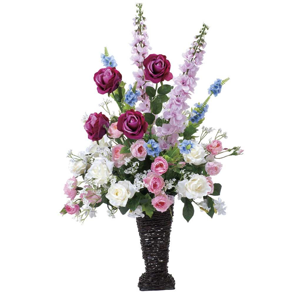 造花アート・アレンジメント マリポーサ ※抗菌、消臭、防汚などに効果のある光触媒人工植物【送料・立札orメッセージカード無料】 ハイクオリティな高級造花は水やりなど面倒な日頃のお手入れは不要です。空間浄化作用のある光触媒の高級造花はオススメです。