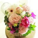 アレンジメントフラワーSサイズ Girlishness(ピンク系)※デザイナーが手がけるお洒落な一品。入籍祝い、結婚祝い、結婚周年祝いなど、結婚に関する贈り物に【送料・メッセージカード無料】【あす楽】