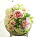アレンジメントフラワーSサイズ Girlishness(ピンク系)※デザイナーが手がけるお洒落な一品入籍祝い 結婚祝い 結婚周年祝い ブライ...