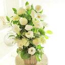 アレンジメントフラワー G&W Basket(グリーン・白系)※デザイナーが手がけるお洒落な一品出産祝い 誕生祝い 妊娠 出産 誕生 出生 バースディ 贈り物 フラワーギフト プレゼント お祝い お花 送料無料 メッセージカード無料 あす楽