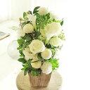 アレンジメントフラワー G&W Basket(グリーン・白系)※デザイナーが手がけるお洒落な一品結婚祝い 入籍祝い ブライダル ウェディング 婚約 贈り物 フラワーギフト プレゼント お祝い お花 送料無料 メッセージカード無料 あす楽
