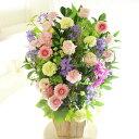 アレンジメントフラワーLサイズ Girlishness(ピンク系)※デザイナーが手がけるお洒落な一品結婚祝い 入籍祝い ブライダル ウェディン..