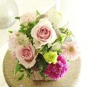 ショッピングピンク アレンジメントフラワーSSサイズ Girlishness(ピンク系)※デザイナーが手がけるお洒落な一品結婚祝い 入籍祝い ブライダル ウェディング 婚約 贈り物 フラワーギフト プレゼント お祝い お花 送料無料 メッセージカード無料 あす楽