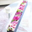 アレンジメントフラワー ローズBOX(レクタングル・ピンクバラ)誕生日 結婚祝い 長寿祝い 新築祝い 開店祝い 退職祝い 贈り物 フラワーギフト プレゼント お祝い お花 送料無料 メッセージカード無料 あす楽