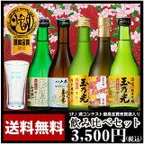 【】日本酒 玉乃光 純米大吟醸・純米吟醸 飲み比べセットTNI-5 300ml×5本、特製グラス付 日本酒【ギフト対応無料】【あす楽対応】ギフト、プレゼント、ホームパーティ、 贈り
