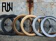 『FUN』【80mm ディープリム】700C※フロントホイール単品[ピスト][パーツ][ピストパーツ][リム][ホイール][クリンチャー][完組][ライダーズカフェ][700C]