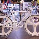 オーダーメイド 自転車 ピスト バイク 完成車シングルスピードホワイト フラットフレーム(530mm)ご購入前に注意事項を必ずご確認ください。