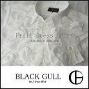 ショッピングカラオケ 【BLACK GULL】ステージ衣装 舞台 バンド衣装オーケストラ カラオケ男性 メンズ 【品番/デザイン】Y 0165/4連フリルシャツ