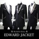 ショッピングカラオケ 【BLACK GULL】ステージ衣装 舞台 バンド衣装オーケストラ カラオケ男性 メンズ 【品番/デザイン】JA 452/エドワード ジャケット