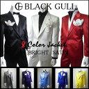 【BLACK GULL】ステージ衣装 舞台 バンド衣装オーケストラ カラオケ男性 メンズ 【品番/デザイン】JA2600.2700/サテン2Bシングルジャケット