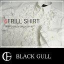 【BLACK GULL】ステージ衣装 舞台 バンド衣装オーケストラ カラオケ男性 メンズ 【品番/デザイン】Y 0166/6連フリルシャツ