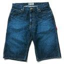 送料無料 NINE RULAZ LINE ナインルーラーズ Carpenter Denim Shorts デニムショーツ ペインターショーツ NRSS17-025 インディゴデニム