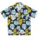 送料無料 7UNION 7ユニオン KONA Shirt 半袖 ハワイアンシャツ アロハシャツ IAVW-022C ネイビー