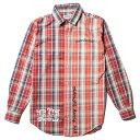 【2018年 春夏 新作】ナインルーラーズ シャツ NINE RULAZ Flannel Shirt メンズ チェックシャツ NINE RULAZ LINE NRSS18-005 レッド