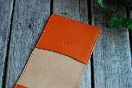 Lining leather buckskin accept (all Polish handled) (Mediterranean orange)